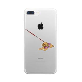 動かないアンちゃん Clear smartphone cases
