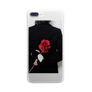 チャンポニ 薔薇 Clear smartphone cases