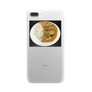 手作りバターチキンカレー Clear smartphone cases