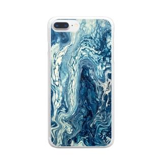 滲む空 Clear smartphone cases