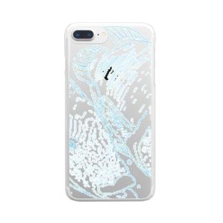 爽やかなナポレオンフィッシのカップル Clear smartphone cases