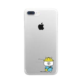 ゆるうさぎ 園児 Clear smartphone cases