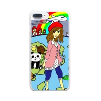 旅ガール Clear smartphone cases