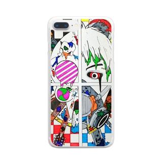 狂気 Clear smartphone cases