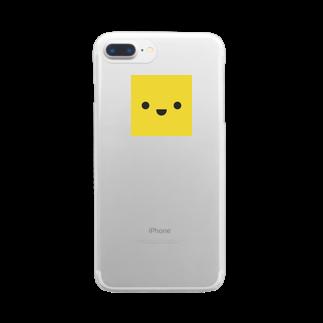 shimojuのきいろいやつ Clear smartphone cases