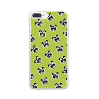 かぶる猫[パンダver.](バットニャン) Clear Smartphone Case