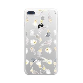たっぷりオカメインコちゃん【まめるりはことり】 Clear smartphone cases