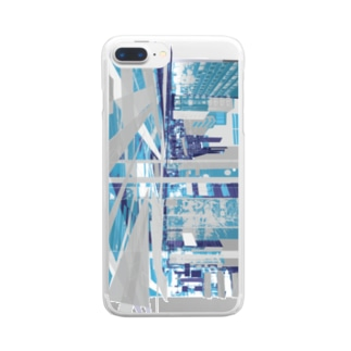 strange city blue Clear Smartphone Case