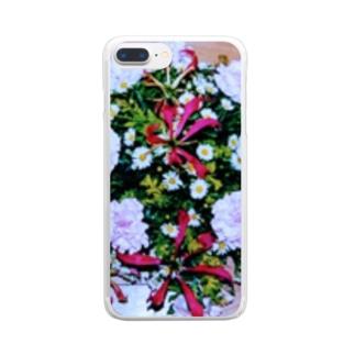 ソフィフラワー Clear smartphone cases