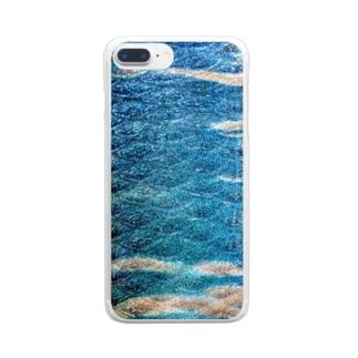 オイカワ模様 Clear smartphone cases