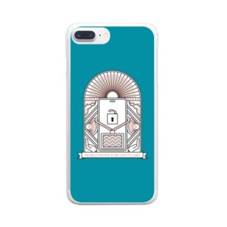 守ろう個人情報グリーン Clear smartphone cases