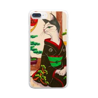 盆栽美人猫 Clear smartphone cases