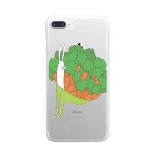 うさぎタイツとにんじん Clear smartphone cases