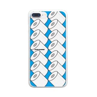 トイレットペーパー Clear smartphone cases