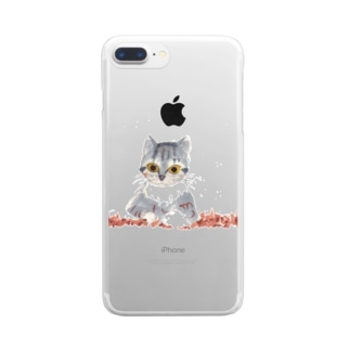 しあわせのイソギンチャク Clear smartphone cases