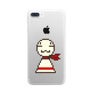 ドット絵まめてる Clear smartphone cases