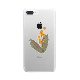 mimosa⚫︎実り Clear smartphone cases