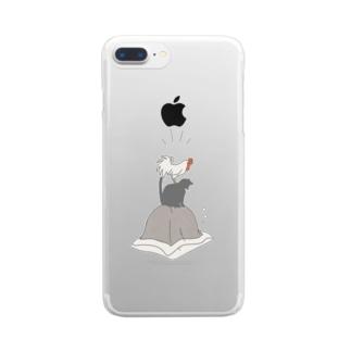 朝ごはんくれ〜 Clear smartphone cases