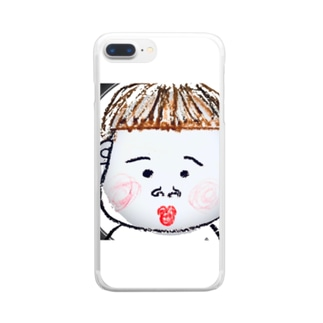 かわいい坊ちゃん Clear smartphone cases
