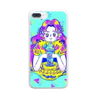 NEO POP GIRLS_C Clear Smartphone Case