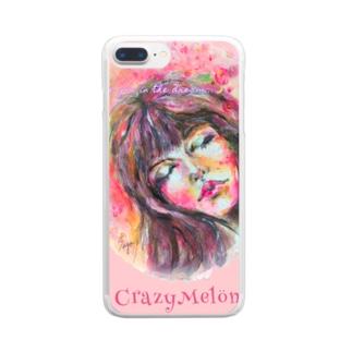 夢で会いましょう🌸ピンクiPhoneカバー Clear smartphone cases