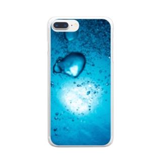 バブル Clear smartphone cases