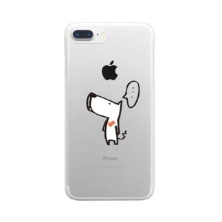 しろいぬ Clear smartphone cases
