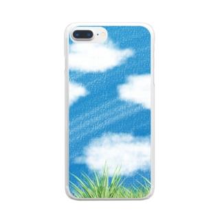 空を見上げて。 Clear smartphone cases