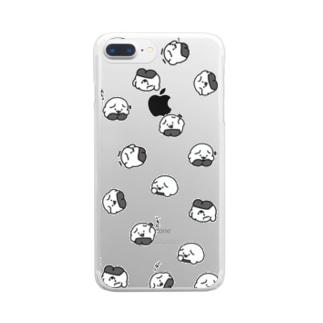 おにぎりわんこ体操スマホケース Clear smartphone cases