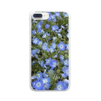 ネモフィラスマホケース Clear smartphone cases
