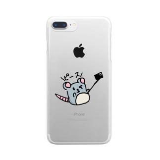 ピース Clear smartphone cases