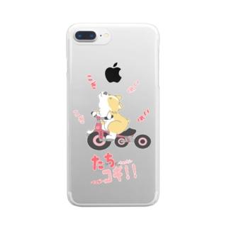 たちコギ(ぺんぶろーく)【コーギー、犬】 Clear smartphone cases