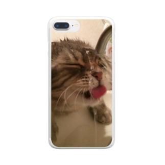 至福タイム Clear smartphone cases