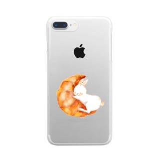 クロワッサンとうさぎさん Clear Smartphone Case