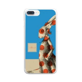 スーパーファンタジー絵描き 松野和貴の化けの皮ーウサギー Clear smartphone cases