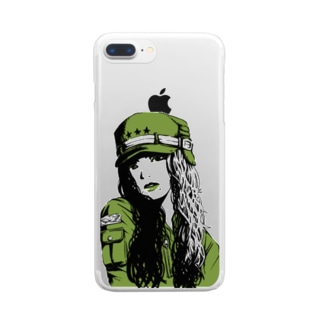 green Clear smartphone cases