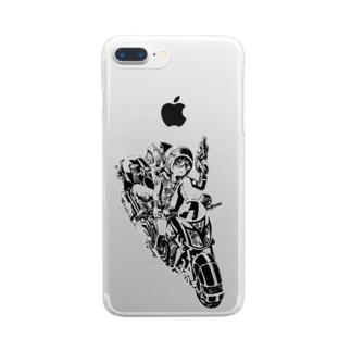 ピコピコハンマーと水鉄砲 Clear smartphone cases