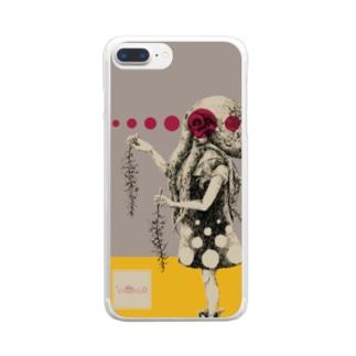 化けの皮ータコー Clear smartphone cases