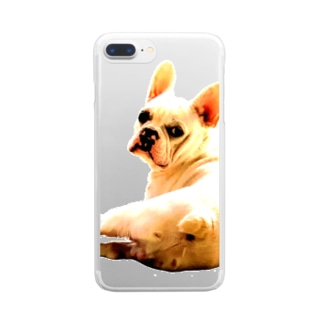 フレンチブルドッグ Clear smartphone cases