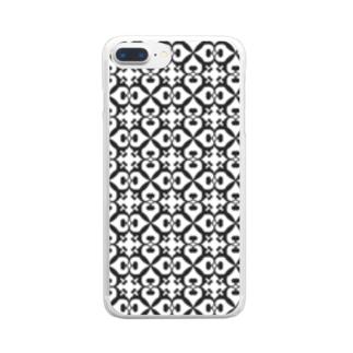 ヘ音記号フラワー Clear smartphone cases