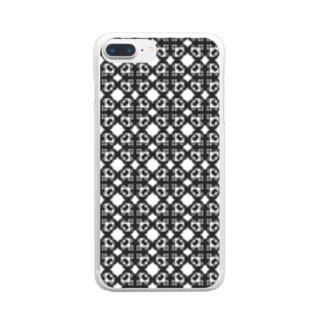 ハ音記号フラワー Clear smartphone cases
