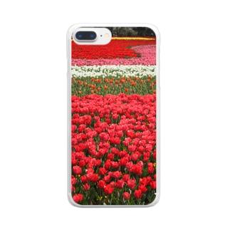 お花畑 Clear smartphone cases