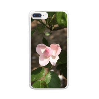 薔薇~リボン Clear smartphone cases
