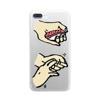 寿司の握り方 Clear smartphone cases