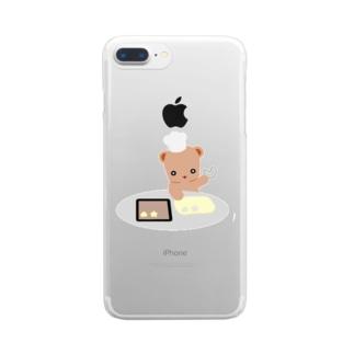 クッキーとクマさん Clear smartphone cases