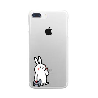 Allen_bocc うさぎ Clear smartphone cases