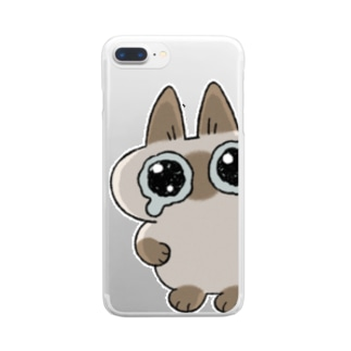 """み""""…(あずきさんver.) Clear smartphone cases"""