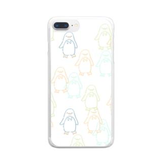 ペンちゃんず(pt2) Clear smartphone cases