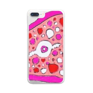 肉の輪切り Clear Smartphone Case