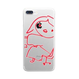 ぴょんてく Clear smartphone cases